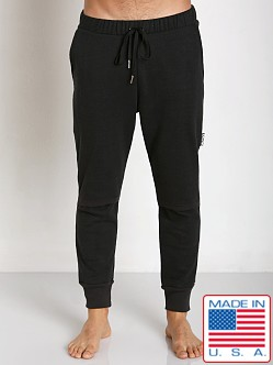 Sauvage Active Hemp Fleece Split Knee Pant Black