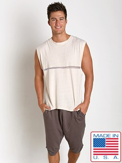 Sauvage Active Bamboo Cotton Front Mesh Muscle Shirt Cream