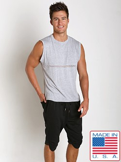 Sauvage Active Bamboo Cotton Front Mesh Muscle Shirt Heather