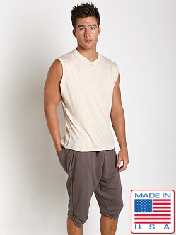 Sauvage Active Bamboo Cotton Side Mesh Muscle Shirt Cream