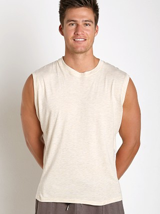 Complete the look: Sauvage Active Bamboo Cotton Side Mesh Muscle Shirt Cream