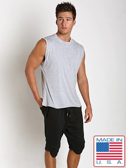 Sauvage Active Bamboo Cotton Side Mesh Muscle Shirt Heather