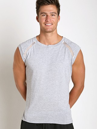 Complete the look: Sauvage Active Bamboo Cotton Shoulder Mesh Muscle Shirt Heather
