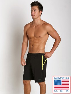 Sauvage Active Microfiber Mesh Detail Casual Short Black