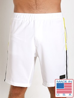 Sauvage Active Microfiber Mesh Detail Casual Short White