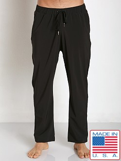 Sauvage Active Microfiber Mesh Detail Track Pant Black
