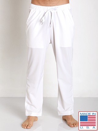 Sauvage Active Microfiber Mesh Detail Track Pant White