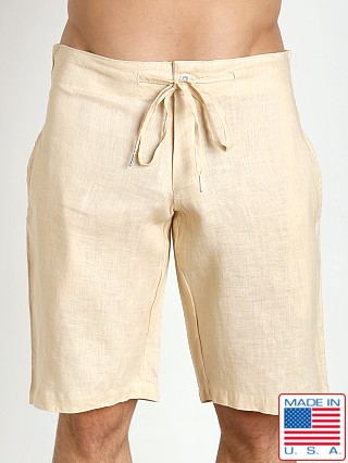 161c08f25f2fd Sauvage 100% Laundered Roma Linen Tropical Short Natural