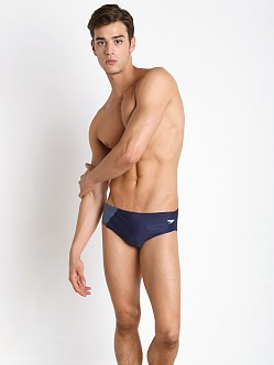 Speedo Revolve Splice Swim Brief Navy/Grey