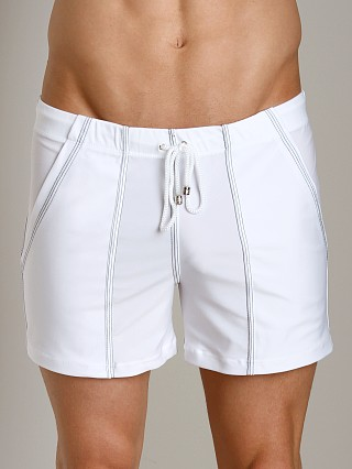 Tulio Loose Fit Lycra Swim Short White