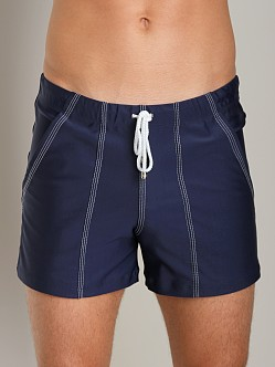Tulio Loose Fit Lycra Swim Short Navy