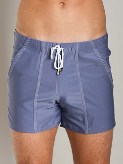 Tulio Loose Fit Lycra Swim Short Medium Grey