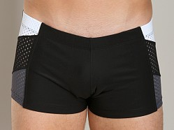 Tulio Clubber Mesh Tri Panel Square Cut Black