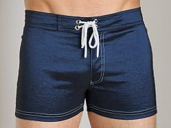 Tulio Strech Nylon Swim Short Navy/White
