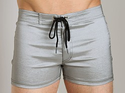 Tulio Strech Nylon Swim Short Silver/Black