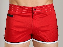 Tulio Strech Nylon Track Swim Short Red