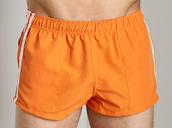 Tulio Nylon Panel Retro Swim Short Orange