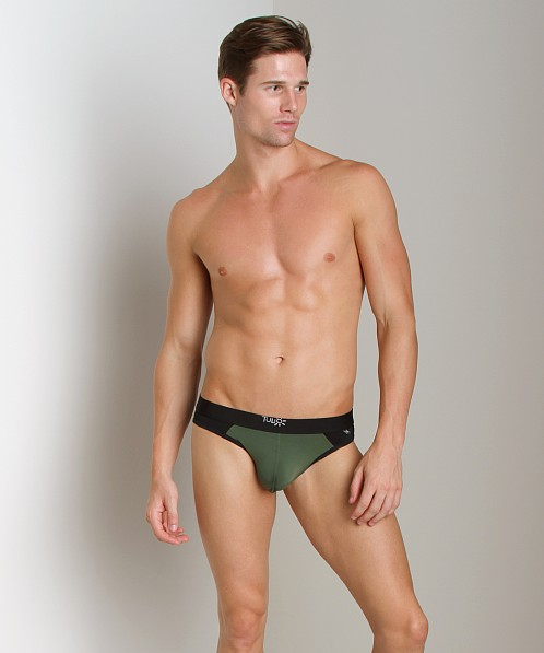 Tulio Enhancer Color Block Slinky Brief Olive