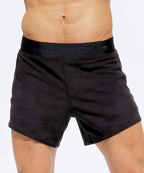 Rufskin Vast Ultra Suede Sport Shorts Black