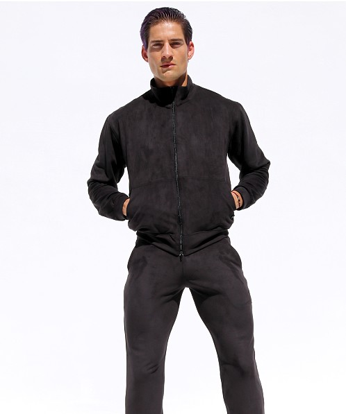 Rufskin Survet Ultra Suede Track Jacket Black