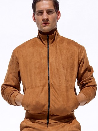 Complete the look: Rufskin Survet Ultra Suede Track Jacket Cognac