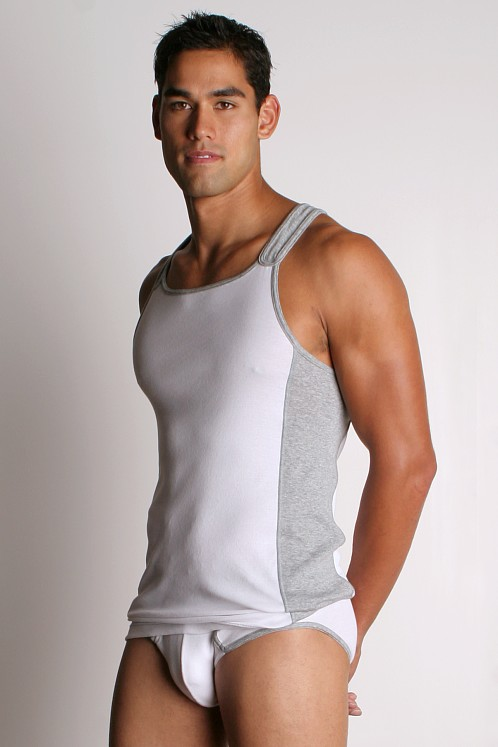 2xist Retro Racer Back Tank White