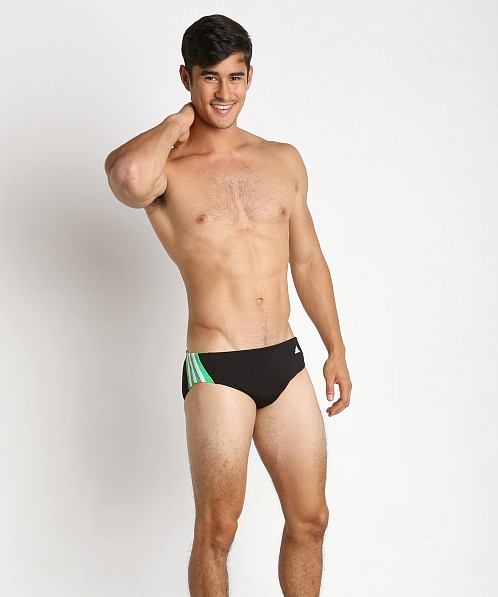 Adidas Solid Splice Swim Brief Green
