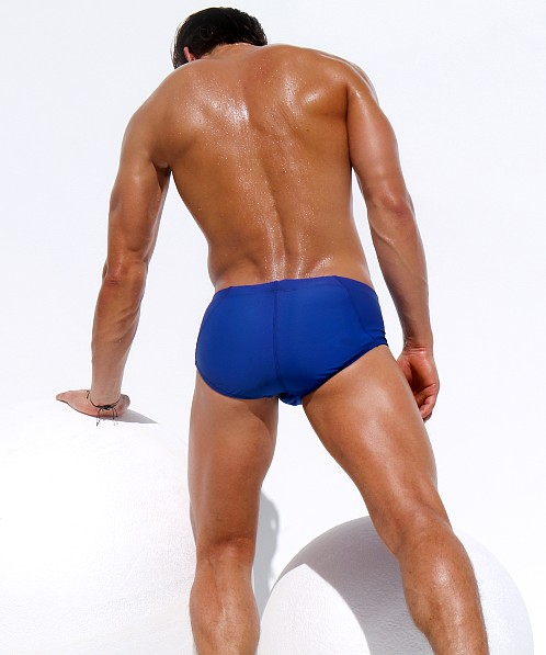 Rufskin Neoprene Tabs Rope Tie Swim Brief Royal