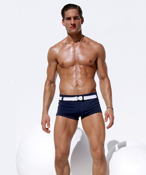 Rufskin Pacifico Belted Square Cut Swim Trunk