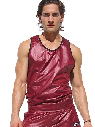 You may also like: Rufskin Rev Wet Look Reversible to Mesh Tank Top Burgundy