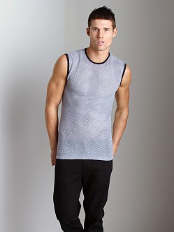 Tulio Open Mesh Muscle Shirt Grey