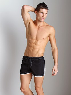 Tulio Nylon Cargo Pocket Short Black