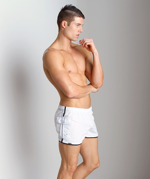 Tulio Nylon Cargo Pocket Short White