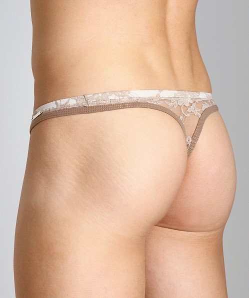 Tulio Lace Power Pouch Thong Nude