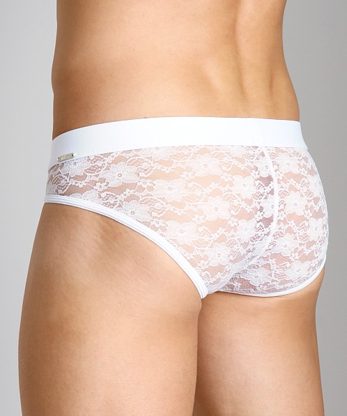 Tulio Lace Power Pouch Bikini White