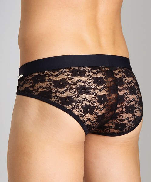 Tulio Lace Power Pouch Bikini Black