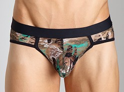 Tulio Camouflage Lace Power Pouch Bikini Green