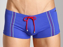 Tulio Supplex Embroidered Striped Trunk Royal