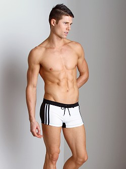 Tulio Classic Stripe Square Cut Trunk White/Black
