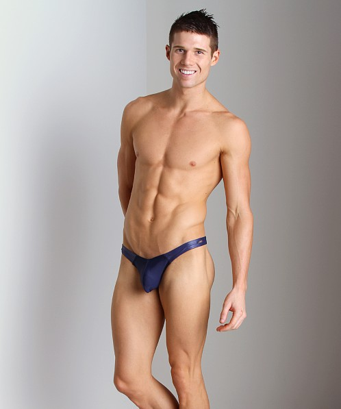 Tulio Cire Panel Power Pouch Swim Thong Navy
