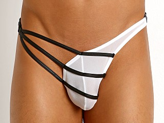 Gregg Homme Grip Buckle Thong White
