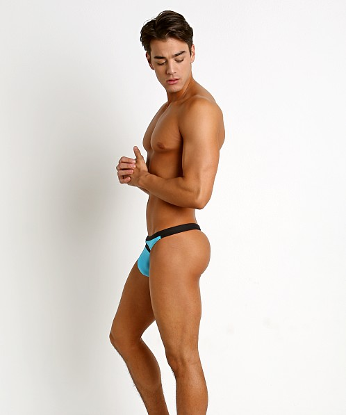 Gregg Homme Reef Swim Thong Aqua/Black