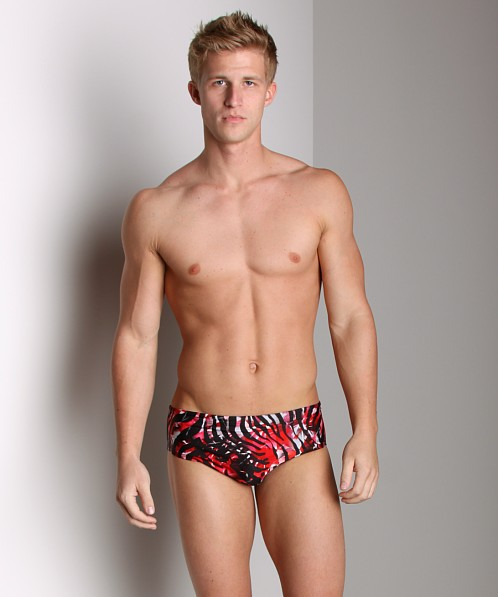 Speedo Zebra Haze Swim Brief Red
