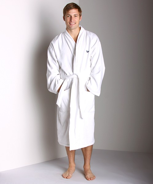 Emporio Armani Soft Terry Bathrobe White