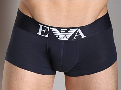 Emporio Armani Stretch Cotton Trunk Navy