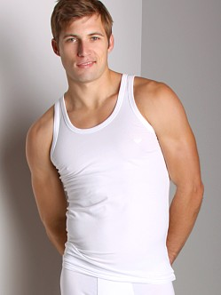 Emporio Armani Stretch Cotton Tank Top White