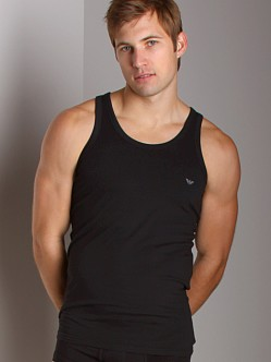 Emporio Armani Stretch Cotton Tank Top Black