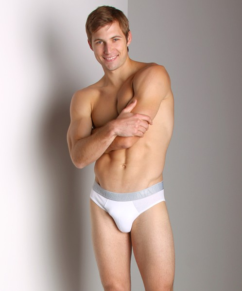 Emporio Armani Soft Stretch Brief White