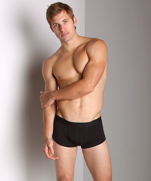 Emporio Armani Soft Stretch Pouch Trunk Black