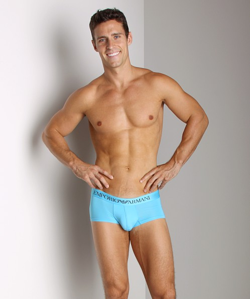 Emporio Armani Stretch Microfiber Trunk Light Blue